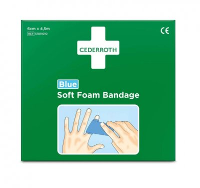 Soft foam bandage blue 4,5m